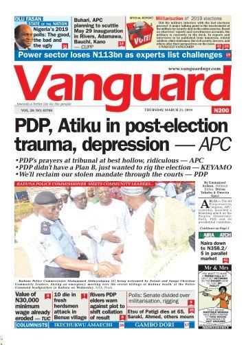 21032019 - PDP, Atiku in post-election trauma, depression — APC