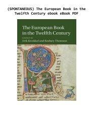 (SPONTANEOUS) The European Book in the Twelfth Century ebook eBook PDF