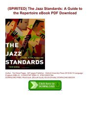 (SPIRITED) The Jazz Standards: A Guide to the Repertoire eBook PDF Download