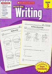 (MEDITATIVE) Scholastic Success with Writing, Grade 3 eBook PDF Download