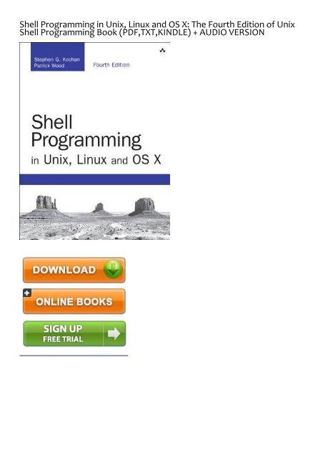 Unix Shell Programming Kochan Pdf