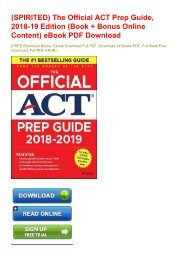 (SPIRITED) The Official ACT Prep Guide, 2018-19 Edition (Book + Bonus Online Content) eBook PDF Download