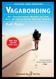 (SECRET PLOT) Vagabonding: An Uncommon Guide to the Art of Long-Term World Travel eBook PDF Download