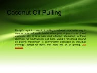 Best Quality Coconut Oil Pulling