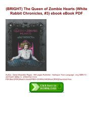 (BRIGHT) The Queen of Zombie Hearts (White Rabbit Chronicles, #3) ebook eBook PDF