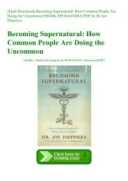 read ebook] Becoming Supernatural How Common People Are Doing the