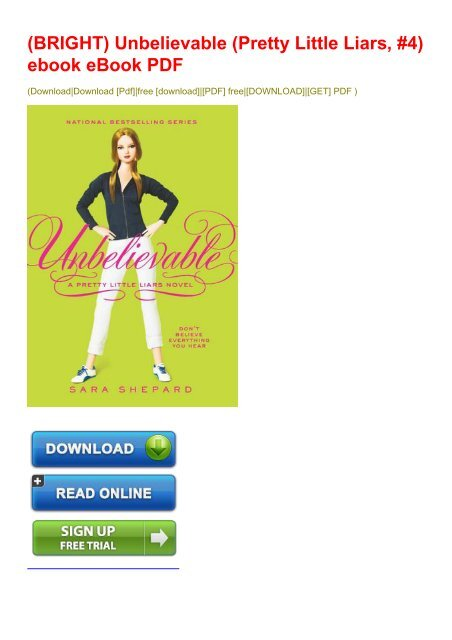 pretty little liars pdf download