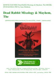 DOWNLOAD FREE Dead Rabbit Mixology & Mayhem  The EBOOK EPUB KINDLE PDF by Sean Muldoon