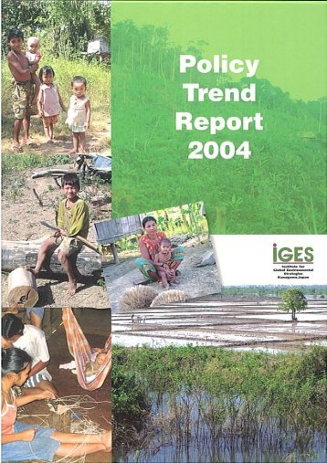 Policy Trend Report 2004 - IGES EnviroScope