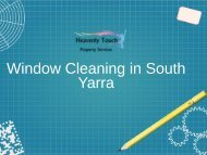 Professional Window Cleaning in South Yarra