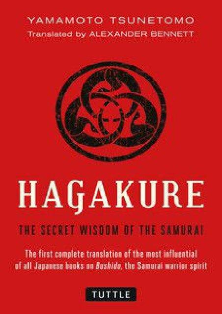 FUNNY) Hagakure: The Secret Wisdom of the Samurai eBook PDF Download