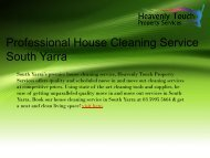 Professional House Cleaning Service in South Yarra