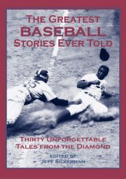 (SPIRITED) The Greatest Baseball Stories Ever Told: Thirty Unforgettable Tales from the Diamond eBook PDF Download