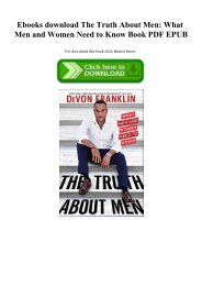 Ebooks download The Truth About Men What Men and Women Need to Know Book PDF EPUB