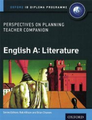9780198332688, English A Perspectives on Planning Literature Teacher Companion Oxford IB Diploma Programme SAMPLE40