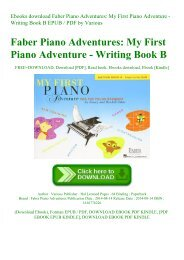 Ebooks download Faber Piano Adventures My First Piano Adventure - Writing Book B EPUB  PDF by Various