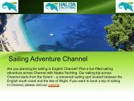 Best Sailing Adventure in Channel