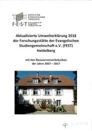 Umwelterklärung FEST 2018