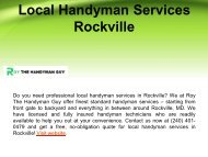 Professional Local Handyman Services in Rockville