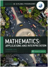 SHELF 9780198426981 IB DP Mathematics  Applications and Interpretation, SL 60p