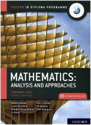 SHELF 9780198427100 IB Mathematics Analysis and Approaches SL 60p