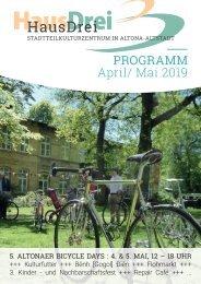 HausDrei Programm April/ Mai 2019