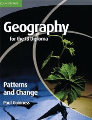 9780521147330, Cambridge Geography for the IB Diploma Patterns and Change, 2nd Edition SAMPLE40