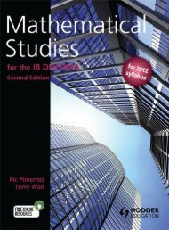 9781444180176, Mathematical Studies for the IB Diploma, 2nd Edition SAMPLE40