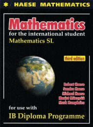 9781921972089, Mathematics SL (Textbook   CD), 3rd Edition SAMPLE40