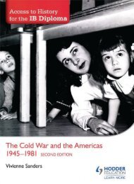 SHELF 9781471841378, Access to History for the IB Diploma The Cold War and the Americas 1945-1981 Second Edition SAMPLE40