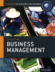 SHELF 9780198392811, IB Business and Management Course Book 2014 Edition SAMPLE40
