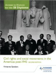 SHELF 9781471841316, Access to History for the IB Diploma Civil Rights and social movements in the Americas post-1945 Second Edition SAMPLE40