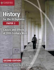 SHELF 9781107560864, History for the IB Diploma Paper 2 Causes and Effects of 20th Century Wars SAMPLE40