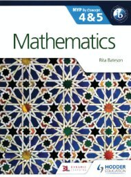 SHELF 9781471841521, Mathematics by Concept for the IB MYP 4 & 5 SAMPLE40