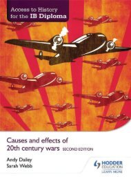 SHELF 9781471841347, Access to History for the IB Diploma Causes and effects of 20th-century wars SAMPLE40