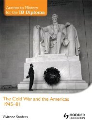SHELF 9781444156591, Access to History for the IB Diploma The Cold War and the Americas 1945-81 SAMPLE40