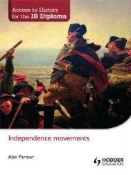 SHELF 9781444182316, Access to History for the IB Diploma Independence Movements SAMPLE40