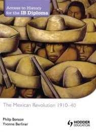 SHELF 9781444182347, Access to History for the IB Diploma The Mexican Revolution SAMPLE40