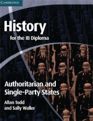 SHELF 9780521189347, History for the IB Diploma, Authoritarian and Single Party States SAMPLE40