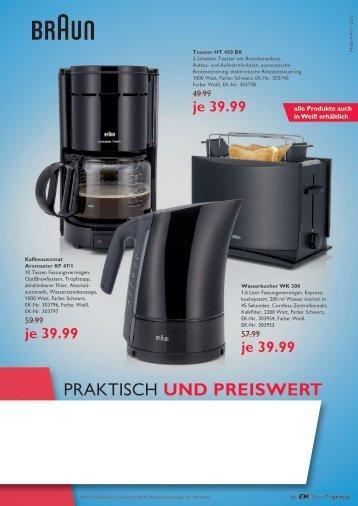 """comfort """"Praktisch und Preiswert""""  P 3903 Kleingeräte"""