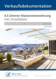 Verkaufsdokumentation Glärnischstrasse 16, 8200 Schaffhausen