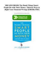 $READ$ EBOOK The Dumb Things Smart People Do with Their Money Thirteen Ways to Right Your Financial Wrongs [EBOOK PDF]