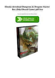 Ebooks download Dungeons & Dragons Starter Box (D&d Boxed Game) pdf free