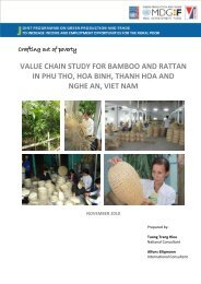 value chain study for bamboo and rattan in phu tho, hoa binh, thanh ...