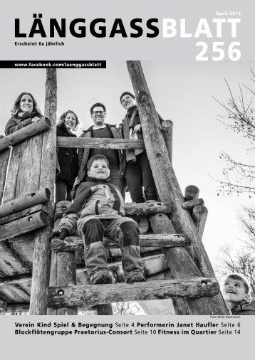 Länggassblatt 256 - April 2019