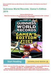 ebook_$ Guinness World Records: Gamer's Edition 2019 | Author Guinness World Records