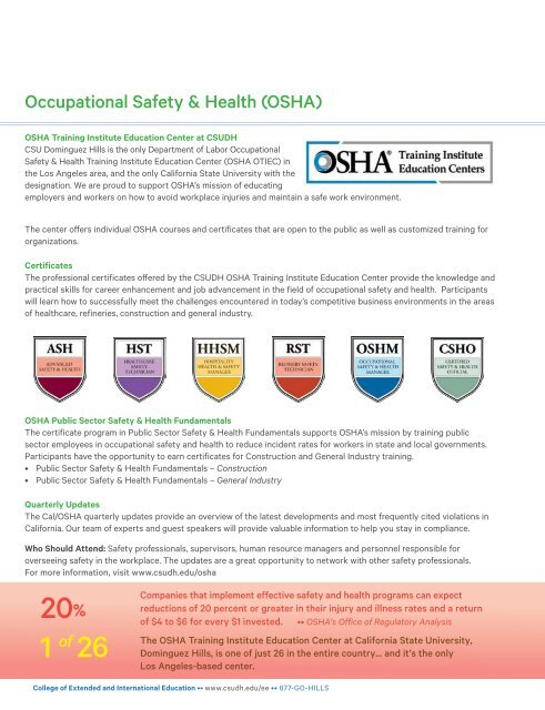 Summer 2019 CSUDH Extended Education Catalog (Interactive)