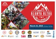 2019 Alanya Ultra Trail Teknik Brifing /Technical Briefing