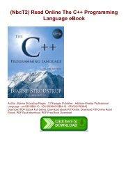 (NbcT2) Read Online The C++ Programming Language eBook