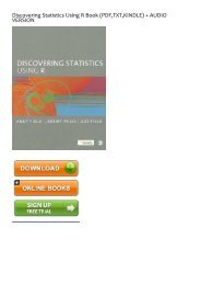 (EFFECTIVE) Download Discovering Statistics Using R eBook